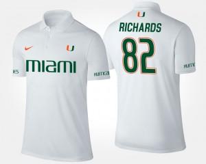 Ahmmon Richards College Polo University of Miami Men's White #82