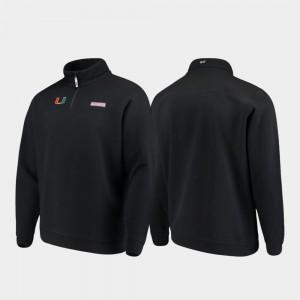 Shep Shirt University of Miami For Men Quarter-Zip Black College Jacket