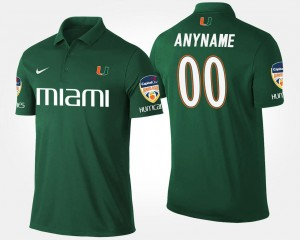 #00 Orange Bowl Mens Bowl Game Miami Green College Customized Polo