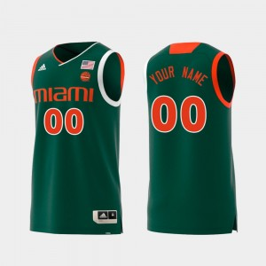 Mens Replica #00 Green Hurricanes College Custom Jerseys Swingman Basketball