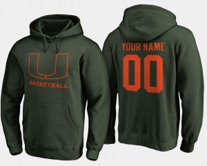 Basketball - College Customized Hoodie Green Mens Miami Hurricanes #00