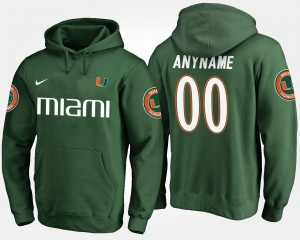 Green Men College Customized Hoodies Miami Hurricanes #00