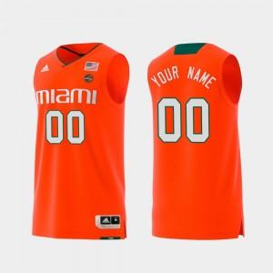 Orange Replica College Customized Jerseys Swingman Basketball Men #00 Miami