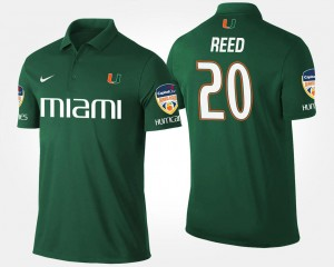 Ed Reed College Polo Green #20 Orange Bowl Hurricanes Bowl Game Men