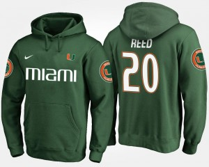 Ed Reed College Hoodie Green Hurricanes For Men #20