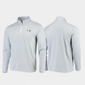 College Jacket Miami Quarter-Zip Performance Gray Gameday Men
