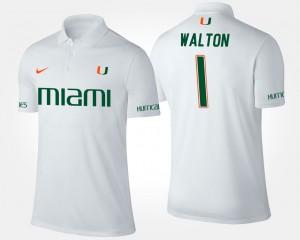 Miami Mark Walton College Polo #1 White For Men's