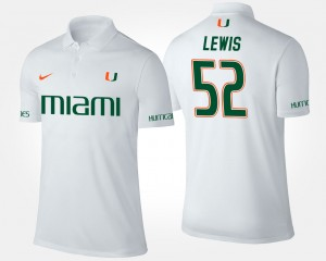 Mens Hurricanes Ray Lewis College Polo White #52