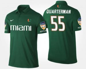 Shaquille Quarterman College Polo Green Miami Hurricanes Mens #55 Orange Bowl Bowl Game