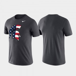 MSU Anthracite Men's Americana Legend Performance College T-Shirt