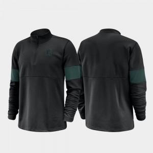 College Jacket MSU For Men Half-Zip Performance 2019 Coaches Sideline Black