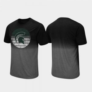 Dip Dye Fancy Walking For Men's College T-Shirt Black Michigan State