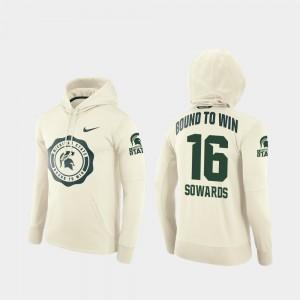 Rival Therma Football Pullover MSU #16 Men Brandon Sowards College Hoodie Cream