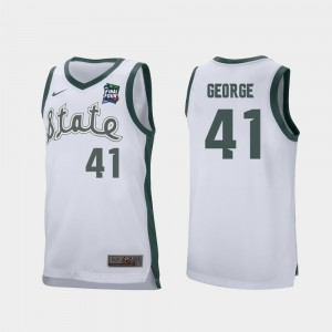 Conner George College Jersey #41 MSU 2019 Final-Four White For Men's Retro Performance