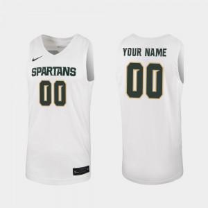 Men 2019-20 Basketball White College Custom Jersey Michigan State #00 Replica