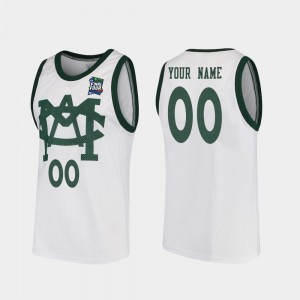Vault MAC Replica College Customized Jersey #00 For Men Michigan State University 2019 Final-Four White