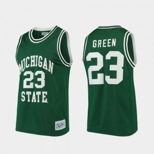 Basketball Alumni Limited Green Spartans #23 Draymond Green College Jersey For Men