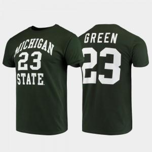 Michigan State University For Men's Draymond Green College T-Shirt Green Basketball Original Retro Brand Alumni Basketball #23