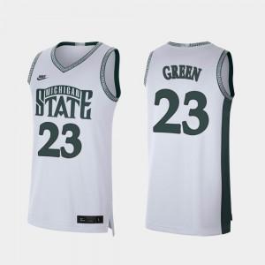 White Retro Limited Basketball Michigan State Spartans #23 Men's Draymond Green College Jersey
