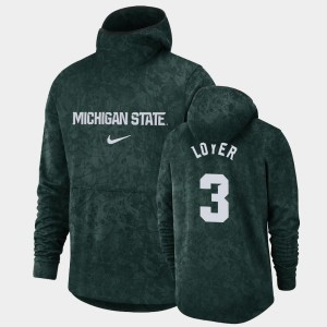 Spartans For Men Basketball Spotlight Pullover Team Logo Foster Loyer College Hoodie Green #3