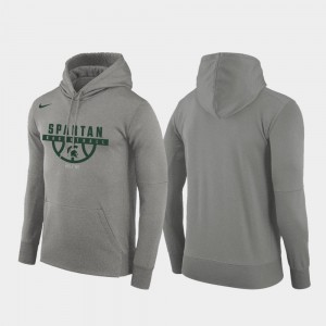 Basketball Drop Circuit Spartans Pullover Gray College Hoodie For Men