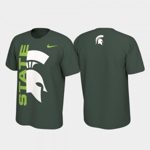 Jersey Performance College T-Shirt Alternate Michigan State Green Men's