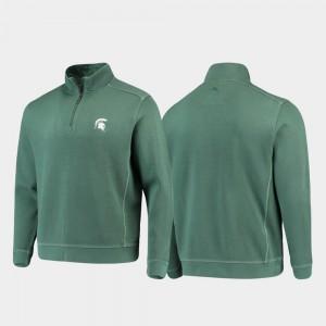 Half-Zip Pullover Tommy Bahama Men's Michigan State University College Jacket Sport Nassau Green