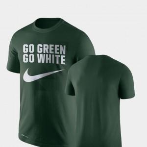 Michigan State University Performance College T-Shirt Green Men Legend Franchise
