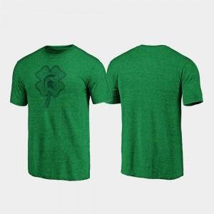 Green Men MSU College T-Shirt St. Patrick's Day Celtic Charm Tri-Blend