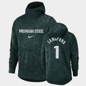 Men's Pullover Team Logo Green Joshua Langford College Hoodie Michigan State Spartans #1 Basketball Spotlight