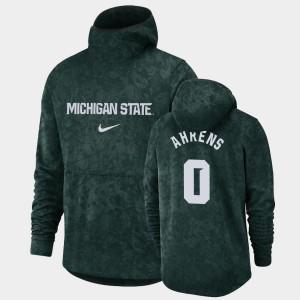 For Men's Basketball Spotlight Kyle Ahrens College Hoodie Green Pullover Team Logo MSU #0
