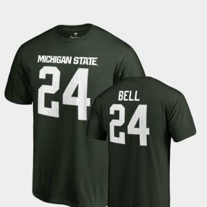#24 Name & Number Green Le'Veon Bell College T-Shirt MSU Men Legends