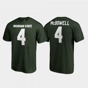Men Name & Number #4 Legends Malik McDowell College T-Shirt Green MSU