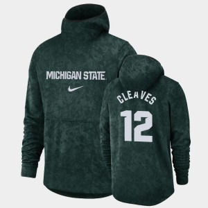 Michigan State Spartans Mateen Cleaves College Hoodie #12 Basketball Spotlight Green Pullover Team Logo For Men's
