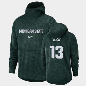 #13 Men Pullover Team Logo Basketball Spotlight MSU Green Steven Izzo College Hoodie