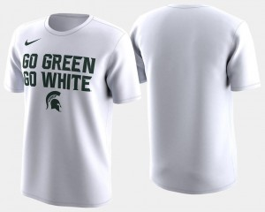 Mens Spartans 2018 March Madness Bench Legend Performance White College T-Shirt Basketball Tournament