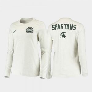 Statement Long Sleeve White Mens Rivalry College T-Shirt Michigan State University