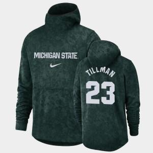 Green Xavier Tillman College Hoodie Mens #23 Michigan State University Basketball Spotlight Pullover Team Logo