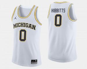 White Basketball For Men Brent Hibbitts College Jersey #0 University of Michigan