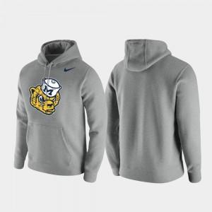 Mens Michigan Wolverines Heathered Gray Club Fleece Vintage Logo College Hoodie