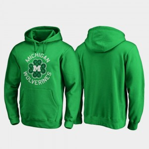 College Hoodie Wolverines Kelly Green St. Patrick's Day Mens Luck Tradition