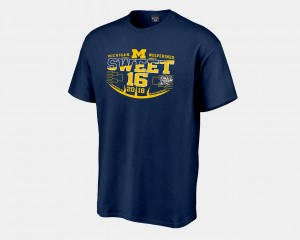 Men Navy College T-Shirt Sweet 16 Bound U of M 2018 March Madness Basketball Tournament