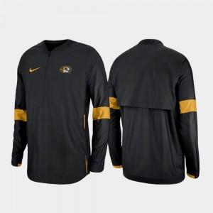 Black Quarter-Zip College Jacket Missouri Tigers Mens 2019 Coaches Sideline