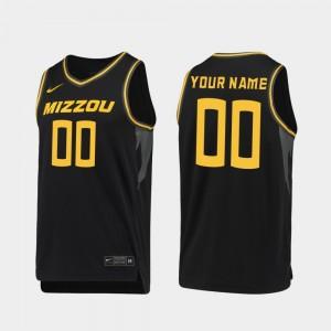 #00 2019-20 Basketball Replica For Men's College Customized Jerseys Black Missouri Tigers