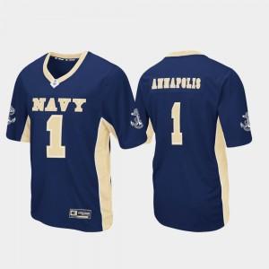 Football Navy Max Power Navy College Jersey Men's #1