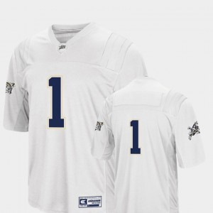 United States Naval Academy College Jersey #1 White Men Football Colosseum