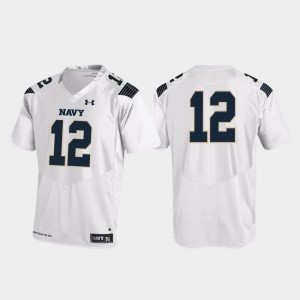 United States Naval Academy White For Men's College Jersey Replica Football #12