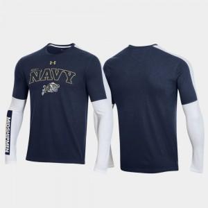 2020 March Madness For Men OT 2.0 Shooting Long Sleeve Navy Navy Midshipmen College T-Shirt