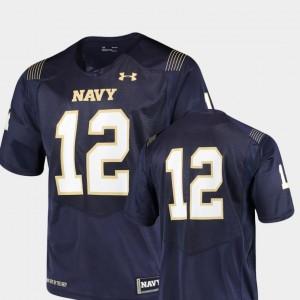 #12 College Jersey Navy Football Team Replica Navy Midshipmen For Men