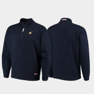 Shep Shirt Men Navy Midshipmen College Jacket Quarter-Zip Navy
